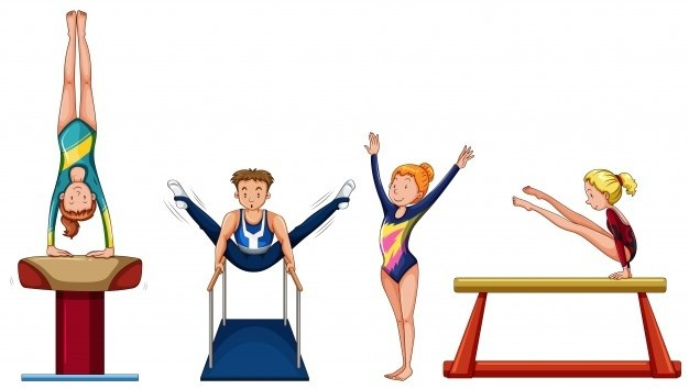 people-doing-gymnastics-different-equipment-illustration_1308-2752