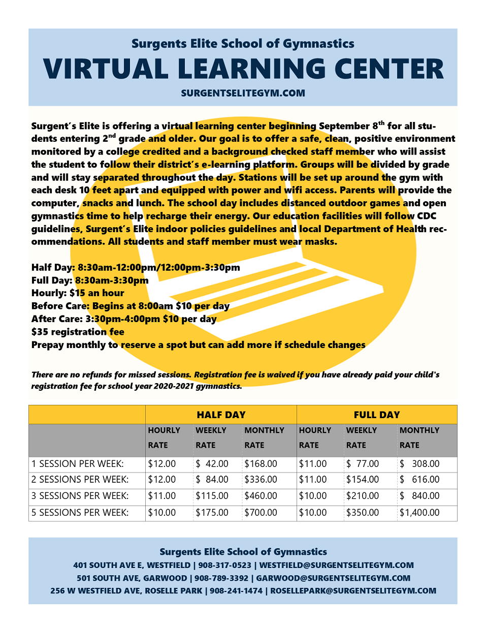Virtual Learning Center Information